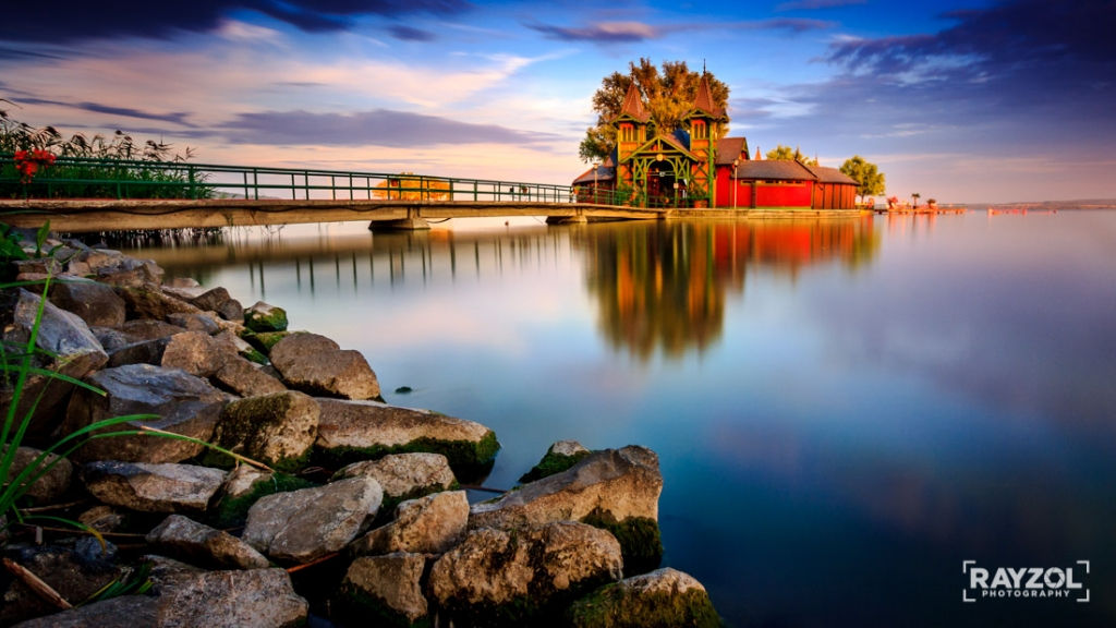 Na brehu Balatonu a Kúpele Sziget v Keszthely